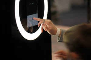 glowing touch screen