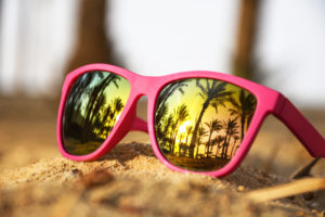 pink sunglasses - summer