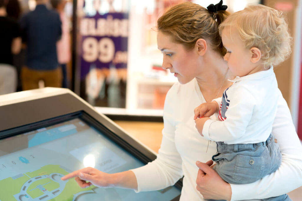 Interactive Kiosk Displays