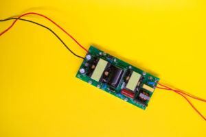 electronic board power for high power LEDs