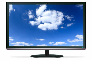 TFT display with clouds